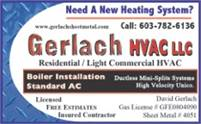 Gerlach Sheet Metal - Need A New Heating System?