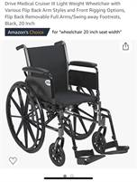"New in box, Drive Medical 20"" wheelchair"